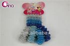 4pcs big&4pcs small elastic hair bands/hair ring/ rubber hair bands for girls