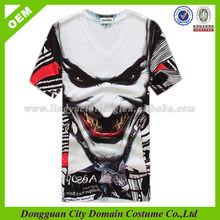 100 polyester Sure T-shirt Devil Design (lvt01013)