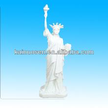 hecho a mano de resina blanca estatua de la libertad
