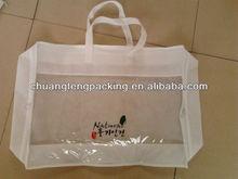 Brand high quality cheap pvc clear plastic bag for bedding
