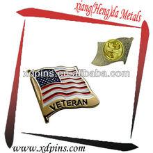 high quality fashion military veteran souvenir american flag lapel pin