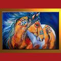 atacado handmade cavalo animal moderno pintura para decoração