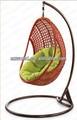 Ratán cama colgante, fabricante de fábrica al por mayor directa, al aire libre de mimbre tejido de agua gota colgando nestrest swing silla tumbona