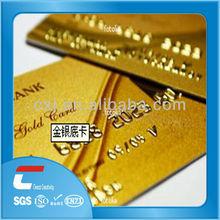 custom printing gold pvc card/inkjet pvc card for epson l800 printer/automatic pvc card emboss serial number plastic cards
