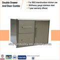 Bbq cucina esterna Island porta in acciaio inox/cassetto doppio combo