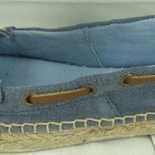 Alpargatas de cuero profundas de cenizas de color zapatos