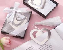 Heart-shaped bookmark - door gift