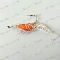 Silicone Shrimp prawn lures pike cod bass salmon sea fishing GLOW in drak