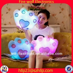 Factory price gift colorful shining led light pillow decorative led sinomax pillow manufacturer