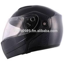 Carbon Fiber Flip Up Modular Motorcycle Full Face Street Helmet