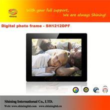 "SH1212DPF frame video music digital photo frame mp4 12"""
