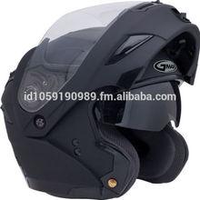 Flat Black LED Modular Motorcycle Helmet