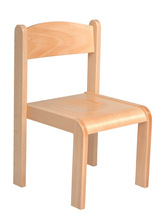 Kids stockable wooden chair - natural color