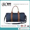 oversized round barrel blue travel bag