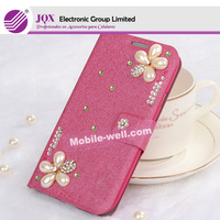 Luxury Crystal cover skin bling diamond leather flip cover case skin for Samsung galaxy S3