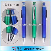 Metal clip frost fat barrel ball pen promotion