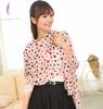 Wholesale Fashion Color Heart Pattern Pink Chiffon Scarf
