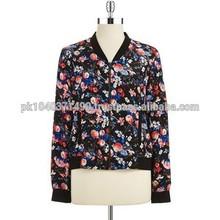 Custom LADIES 2014 Flower Design/Fashion Sublimation Printed jacket