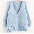 pull col v à tricoter motif pour les femmes