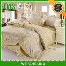 luxury cotton silky feel jacquard bedroom bed set