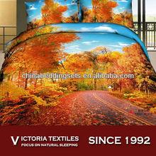 100 cotton 40s 300 thread count bed cover set 4pcs bedding sets landscape print