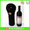 hot sales neoprene insulated black color single bottle wine holder