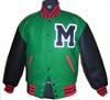 men's wholesale satin baseball varsity jackets