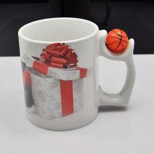 Tuemi sublimation mug with basketball handle