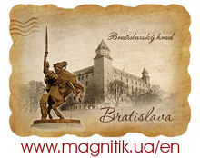 Bratislava 3D tourist polystone souvenir