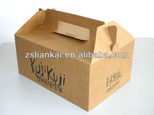 China manufacture recycled printed brown kraft pape box