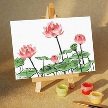2014 sell good simple flower oil painting for promotion