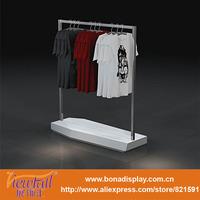 clothing store metal hanging clothes display racks