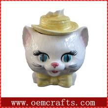 Cat head custom ceramic Boxe candy