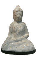 Glass Mosaic Buddha Lamp - 30cm (Thin)