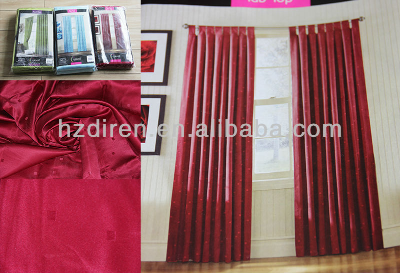 polyester bathroom ready made shimmer lined panel curtains with grommets