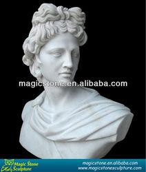 female head bust statue