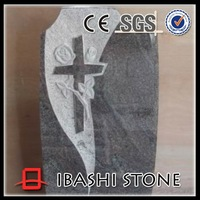 cross and flower design headstone for sale