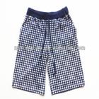 cotton spandex jersey yarn dyed men's check short harem pant