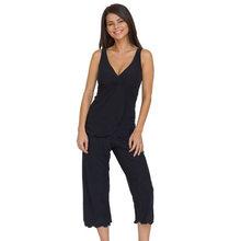 2014 Summer Sexy Women Silky Ruffle Stretch Short Pajama Set
