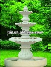 white granite outdoor 3 tier water fountain with garden decorative stones