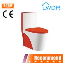 chaozhou ceramic wc one piece toilet red toilet