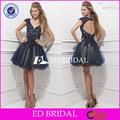 Robe de bal e570 v décolleté en dentelle appliqued robes de soirée mancherons d'africaines