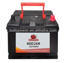 sealed lead acid car starting batteries 12v 70ah