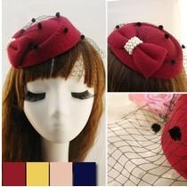 C81235A Girls gauze bow remarkable temperament fashion headwear
