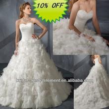 Hot Sale Long Good Quality Organza Sweetheart Fluffy Wedding Dresses