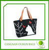 Beautiful printed fashionable cotton canvas OEM shopping bag