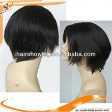 Top quality hair jewish kosher human hair wigs silk top