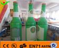 2014 alta qualidade garrafa de cerveja inflável inflável iluminar 1831 alemão cerveja