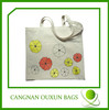 China product white color handle shopping cotton canvas bag