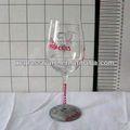 Alta qualidade copo de vinho aniversário com pintura à mão